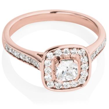 rose gold wedding rings