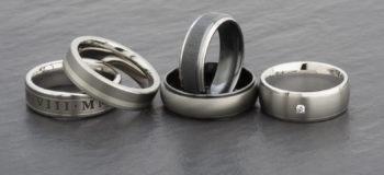 Men's wedding rings.